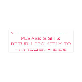 """Simple """"Please Sign & Return Promptly To"""" Self-inking Stamp"""
