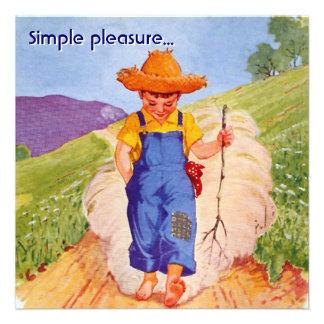 Simple Pleasure Custom Invitations