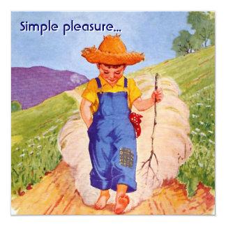 Simple Pleasure 13 Cm X 13 Cm Square Invitation Card