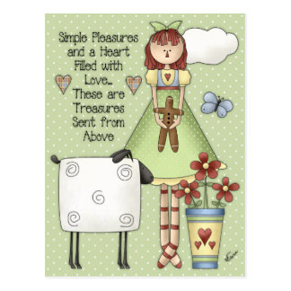Simple Pleasures Raggedy Ann Postcard
