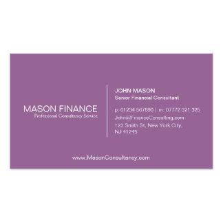 Simple Plum Customizable Business Card Template