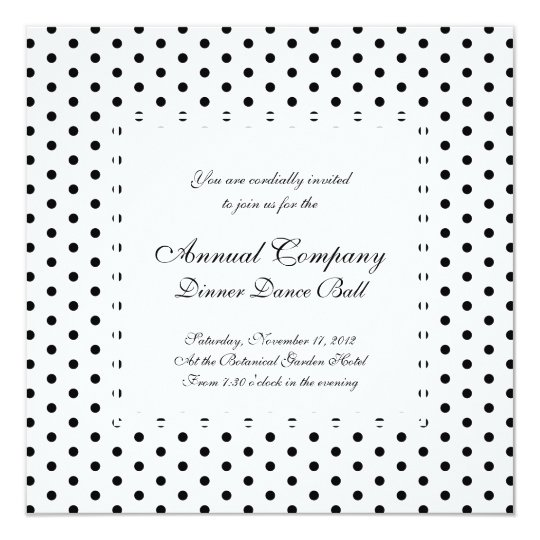 Simple Polka Dot Black and White Pattern Card