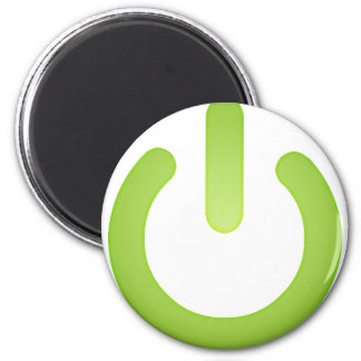 Simple Power Button 6 Cm Round Magnet