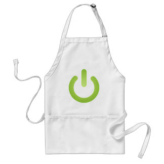 Simple Power Button Adult Apron