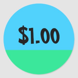 Simple Price Tag Sticker - $10 Donation Edition