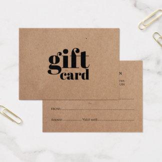 Simple Printed Kraft Beauty Gift Card