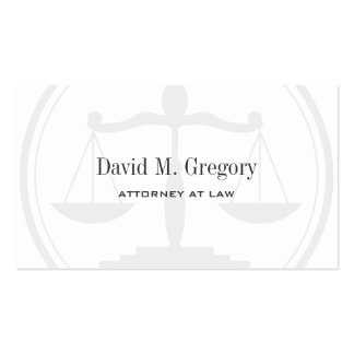 Simple Professional Attorney Lawyer Law Firm Pack Of Standard Business Cards