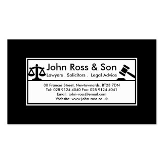 Simple, Professional Black & White Template Pack Of Standard Business Cards