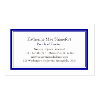 Simple Professional Blue Business Card