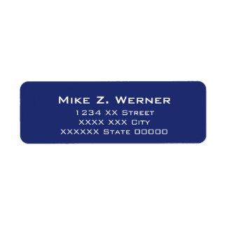 simple professional blue return address label
