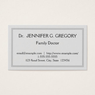 Simple & Professional Family Doctor Business Card