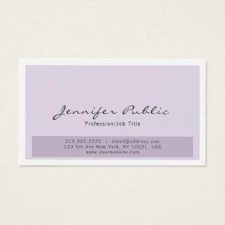 Simple Professional Modern Elegant Purple White Business Card