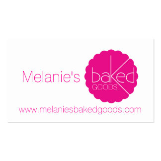 Simple professional pink bakers business cards business card template