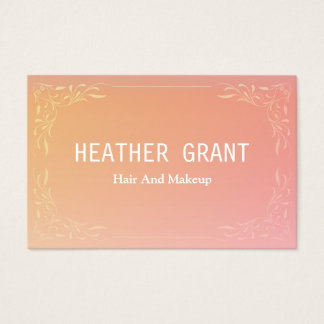 Simple Professional Pink Floral Business Cards