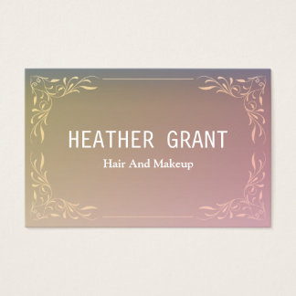 Simple Professional Rainbow Floral Business Cards