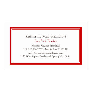 Simple Professional Red Business Card