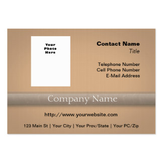Simple Professional with Photo or Logo Large Business Cards (Pack Of 100)