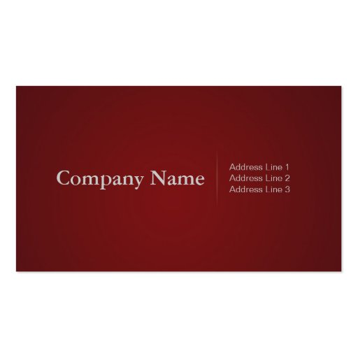 Simple Profressional Business Cards in Red
