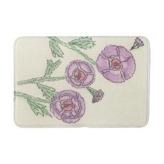Simple Purple Flowers Bath Mat