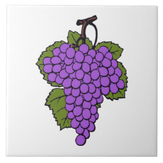 Simple Purple Grape Cluster  Fruit Ceramic Tile