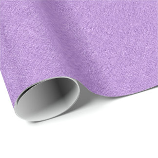 Simple Purple Linen Texture Wrapping Paper