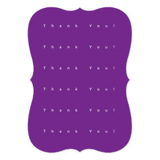 Simple Purple Thank You Card - Decorative Edges