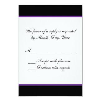 Simple purple wedding RSVP 9 Cm X 13 Cm Invitation Card