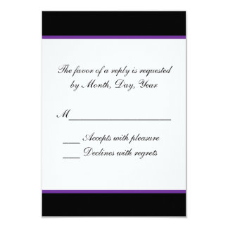 Simple purple wedding RSVP Card