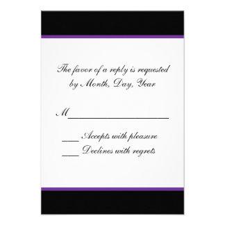 Simple purple wedding RSVP Invite