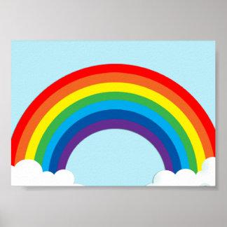 Simple rainbow poster