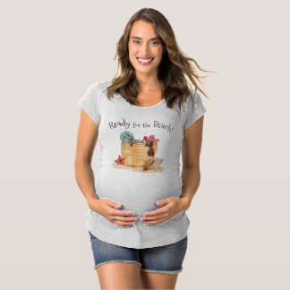 Simple Ready For The Beach Summer Maternity Shirt