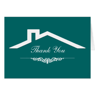 Simple Real Estate Business Thank You Cards