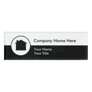 Simple Realtor Office Staff Name Tag