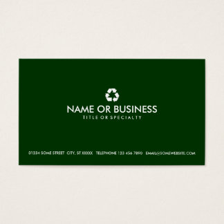 simple recycle business card