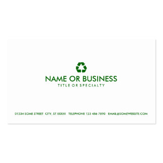 simple recycle pack of standard business cards