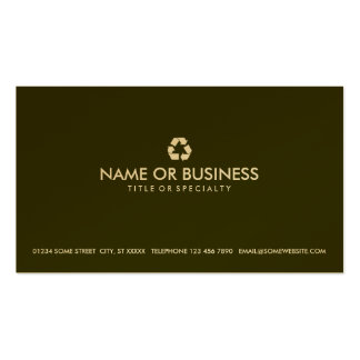 simple recycle business card template