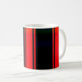 Simple Red And Black Striped Coffee Mug