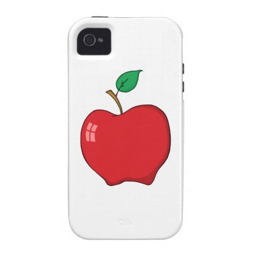 Simple Red Apple Vibe iPhone 4 Case