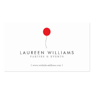 Simple Red Balloon Event Planner, Party Planner Pack Of Standard Business Cards