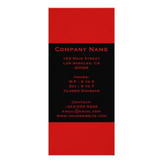simple red black rack cards