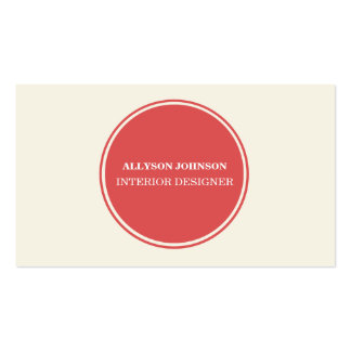 Simple Red Circle Business Cards