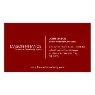 Simple Red Customizable Business Card Template