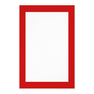 simple red customized stationery