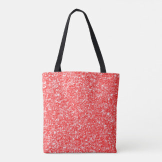Simple Red Glitter Tote Bag
