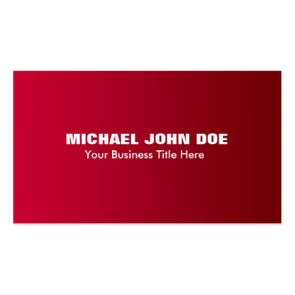 Simple Red Gradient Modern Minimalist Pack Of Standard Business Cards
