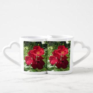 Simple Red Roses Coffee Mug Set