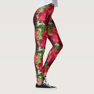 Simple Red Roses Leggings