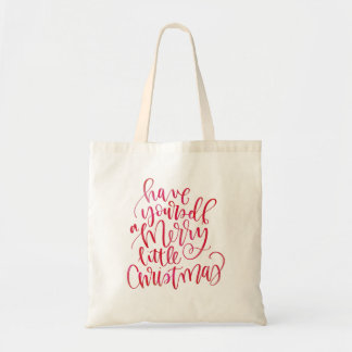Simple Red Watercolor Hand Lettered Script Type Tote Bag