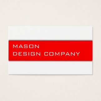 Simple Red & White Corporate Stylish Card