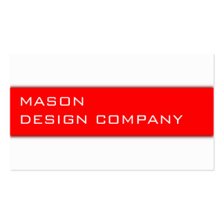 Simple Red & White Corporate Stylish Card Business Cards